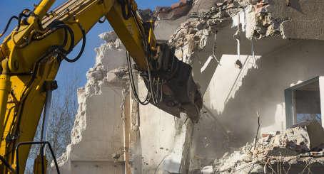 démolition de bâtiments mons